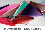 3d geometric triangular shapes...   Shutterstock .eps vector #1303463569