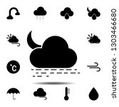 sea  cloud  moon icon. simple...