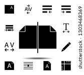 pages  text icon. simple glyph  ...