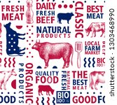 typographic vector butchery... | Shutterstock .eps vector #1303468990