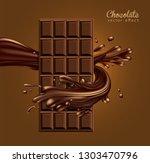 chocolate advertising design.... | Shutterstock .eps vector #1303470796