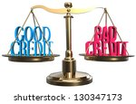 choose value of good credit or...   Shutterstock . vector #130347173