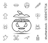 sweets in the pumpkin icon....