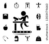 the man on treadmill icon....
