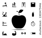 the apple icon. simple glyph...