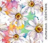 white daisy floral botanical... | Shutterstock . vector #1303476646