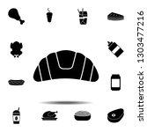 croissant icon. simple glyph...