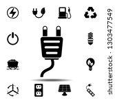 plug icon. simple glyph...