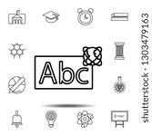abc whiteboardoutline icon....