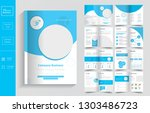 16 pages  business brochure... | Shutterstock .eps vector #1303486723