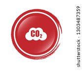 carbon dioxide icon on glossy... | Shutterstock .eps vector #1303487359