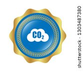 carbon dioxide icon on glossy... | Shutterstock .eps vector #1303487380