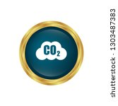 carbon dioxide icon on glossy... | Shutterstock .eps vector #1303487383