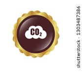 carbon dioxide icon on glossy... | Shutterstock .eps vector #1303487386