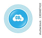 carbon dioxide icon on glossy... | Shutterstock .eps vector #1303487410