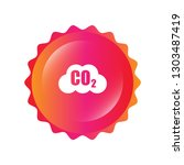 carbon dioxide icon on glossy... | Shutterstock .eps vector #1303487419