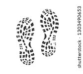 shoe footprints isolated on...   Shutterstock .eps vector #1303490653