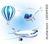 vector set of icons transport | Shutterstock .eps vector #130349303