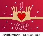 vector illustration.valentine's ...   Shutterstock .eps vector #1303503400