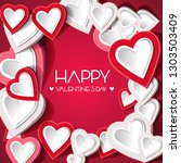 vector illustration.valentine's ... | Shutterstock .eps vector #1303503409