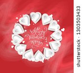 vector illustration.valentine's ... | Shutterstock .eps vector #1303503433