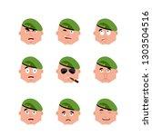 russian soldier set emoji... | Shutterstock .eps vector #1303504516