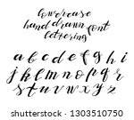 set of hand drawn typeface ... | Shutterstock .eps vector #1303510750