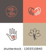 vector set of logo design... | Shutterstock .eps vector #1303510840