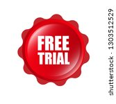 free trial red banner.designed...