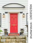 entrance of a house in... | Shutterstock . vector #130352504