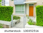 entrance of a house. | Shutterstock . vector #130352516