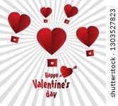 happy valentine day love... | Shutterstock .eps vector #1303527823