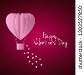 happy valentine day love...   Shutterstock .eps vector #1303527850