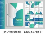 16 pages  education brochure... | Shutterstock .eps vector #1303527856