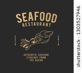 authentic seafood restaurant... | Shutterstock .eps vector #1303527946
