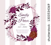 vector abstract wedding frame.... | Shutterstock .eps vector #1303534369