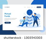 landing page template of... | Shutterstock .eps vector #1303543303