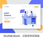 landing page template of learn... | Shutterstock .eps vector #1303543306