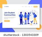 Landing page template of Student Community Illustration  Concept. Modern flat design concept of web page design for website and mobile website.Vector illustration