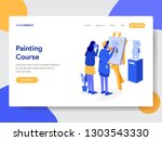 landing page template of... | Shutterstock .eps vector #1303543330
