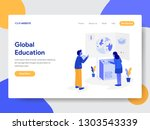 landing page template of global ... | Shutterstock .eps vector #1303543339