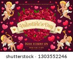 valentines day holiday romantic ... | Shutterstock .eps vector #1303552246