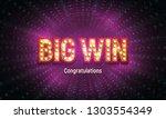 shining retro sign big win... | Shutterstock .eps vector #1303554349