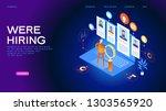 job interview. recruitment... | Shutterstock .eps vector #1303565920