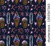 cute stylish seamless pattern.... | Shutterstock .eps vector #1303567363
