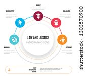 abstract infographics of law...   Shutterstock .eps vector #1303570900