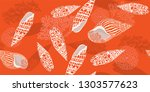 modern seamless pattern with... | Shutterstock .eps vector #1303577623