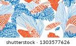 ontemporary seamless pattern... | Shutterstock .eps vector #1303577626