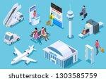airport isometric. passenger... | Shutterstock .eps vector #1303585759