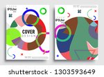 modern abstract covers set.... | Shutterstock .eps vector #1303593649